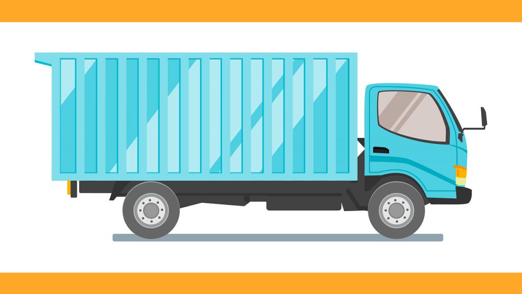 קריקטורה משאית הובלות