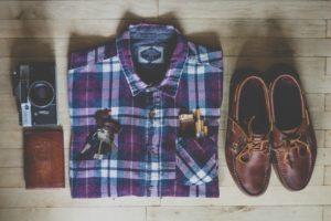 חולצה מקופלת מתאימה לשאר הלבוש